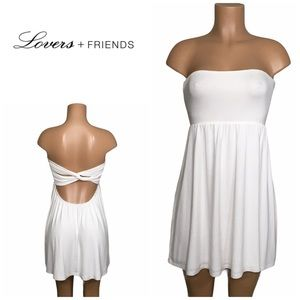 Lovers and Friends strapless dress. New